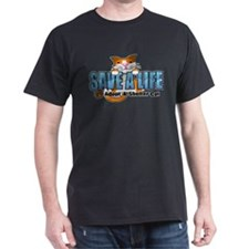 Shelter Cat/ Blue T-Shirt