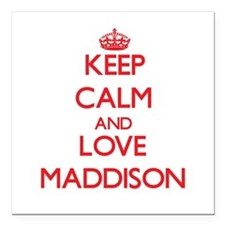 "Keep Calm and Love Maddison Square Car Magnet 3"" x"