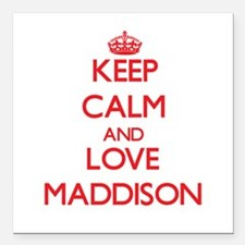 """Keep Calm and Love Maddison Square Car Magnet 3"""" x"""