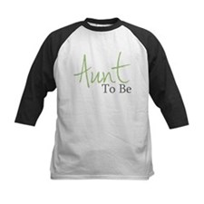 Aunt To Be (Green Script) Tee