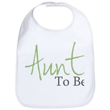Aunt To Be (Green Script) Bib
