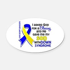 Blessing 4 Son DS Oval Car Magnet