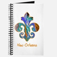 Painted Fleur de lis (7) Journal