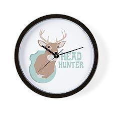 HEAD HUNTER Wall Clock