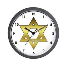 Gold Star of David Wall Clock