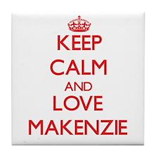 Keep Calm and Love Makenzie Tile Coaster