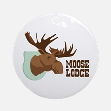 MOOSE LODGE Ornament (Round)