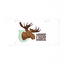 MOOSE LODGE Aluminum License Plate