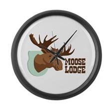 MOOSE LODGE Large Wall Clock