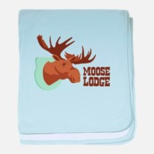 MOOSE LODGE baby blanket