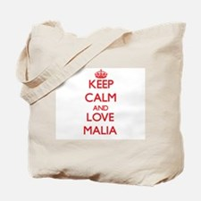 Keep Calm and Love Malia Tote Bag