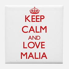 Keep Calm and Love Malia Tile Coaster