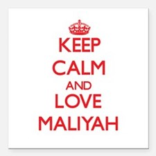 "Keep Calm and Love Maliyah Square Car Magnet 3"" x"