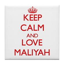 Keep Calm and Love Maliyah Tile Coaster