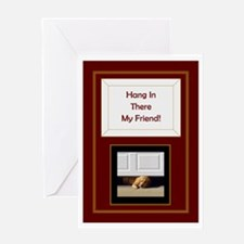 Hang In There My Friend Labrador Greeting Cards