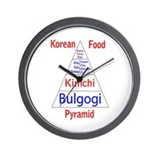 Korean Food Pyramid Wall Clock