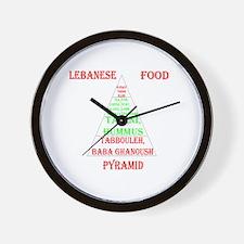 Lebanese Food Pyramid Wall Clock