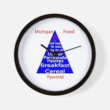 Michigan Food Pyramid Wall Clock