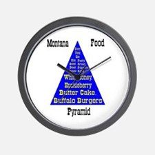 Montana Food Pyramid Wall Clock