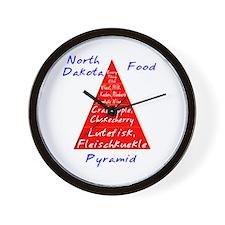 North Dakota Food Pyramid Wall Clock