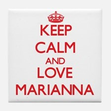 Keep Calm and Love Marianna Tile Coaster