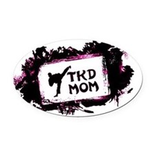tkd mom Oval Car Magnet