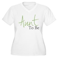 Aunt To Be (Green Script) T-Shirt