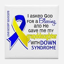 Blessing 4 Granddaughter DS Tile Coaster