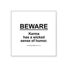 Wicked Sense of Humor... Oval Sticker