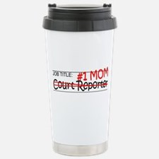 Job Mom Court Reporter Stainless Steel Travel Mug