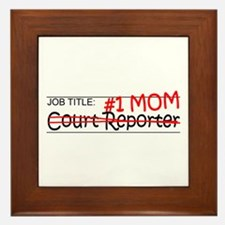Job Mom Court Reporter Framed Tile
