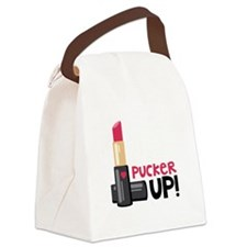 PUCKER UP! Canvas Lunch Bag