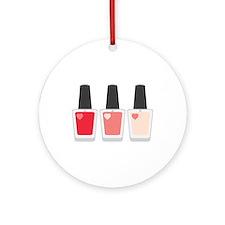 Nail Polish Manicure Ornament (Round)