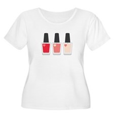 Nail Polish Manicure Plus Size T-Shirt