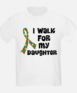 Autism Walk For Daughter T-Shirt