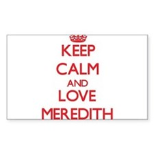 Keep Calm and Love Meredith Decal