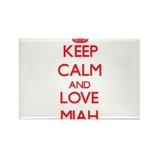 Keep Calm and Love Miah Magnets