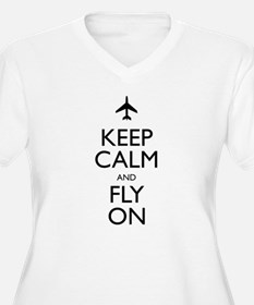 Keep Calm and Fly On Plus Size T-Shirt
