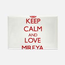 Keep Calm and Love Mireya Magnets