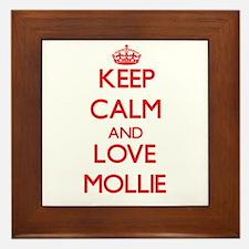 Keep Calm and Love Mollie Framed Tile
