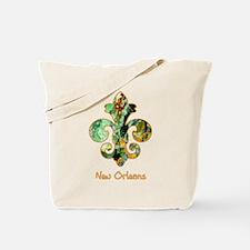 Painted Fleur de lis (6) Tote Bag