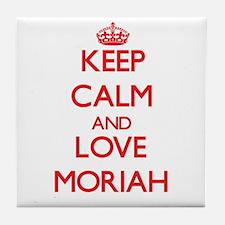 Keep Calm and Love Moriah Tile Coaster