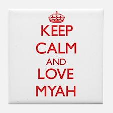 Keep Calm and Love Myah Tile Coaster