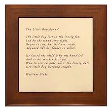 The Little Boy Lost Framed Tile