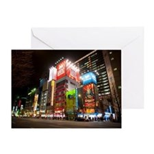 tokyo at night Greeting Card