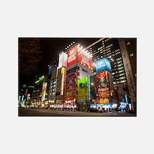 tokyo at night Rectangle Magnet
