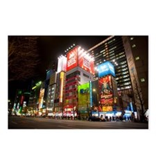 tokyo at night Postcards (Package of 8)
