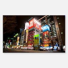 tokyo at night Decal