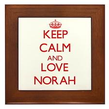 Keep Calm and Love Norah Framed Tile