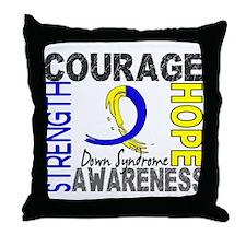 DS Courage Faith 2 Throw Pillow